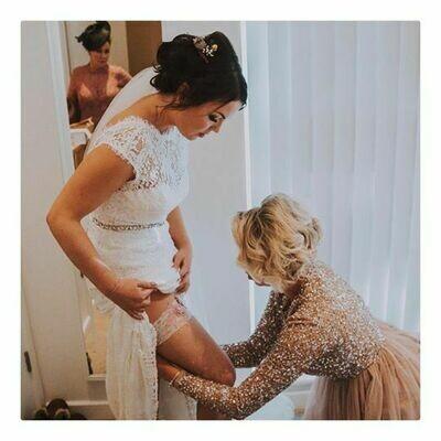 Bridal Garter - Lace Overlay