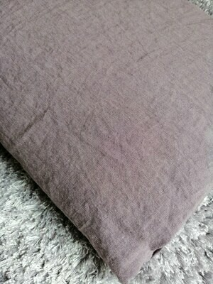"""FITTED SHEET, 100% LINEN, STONE WASHED, """"RABBIT"""","""