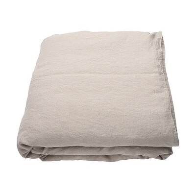 DUVET COVER, 100% LINEN, STONE WASHED, NATURAL
