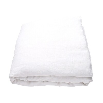 DUVET COVER, 100% LINEN, STONE WASHED, OPTICAL WHITE