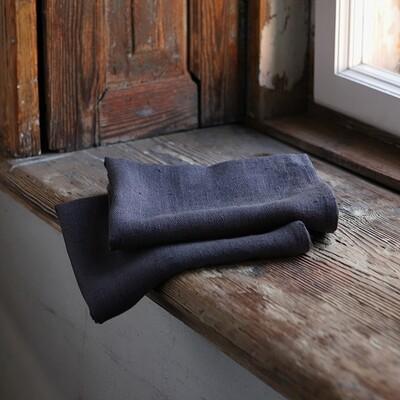 SET OF TWO GUEST TOWELS, 100% LINEN, LARA, GREY, 33x50 cm