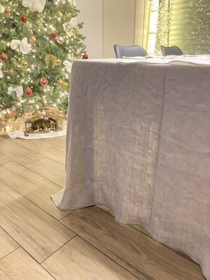 LINEN TABLE CLOTH, 100% LINEN, 330x135 cm, NATURAL COLOR