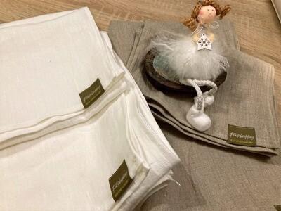 SET OF TWO LINEN TOWELS, 100% LINEN, 1x 135x100 cm, 1X 70x50 cm
