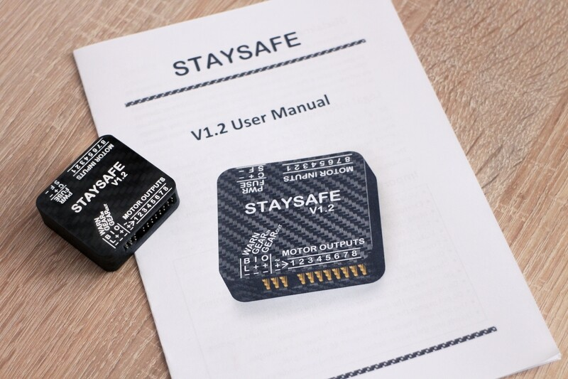 Staysafe 8 - UAV/Drone Throttle Cut / Parachute Aux Safety System