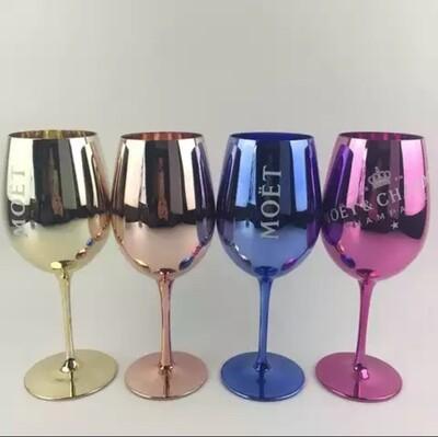 Custom Logo Champagne Copper Red Wine Glasses