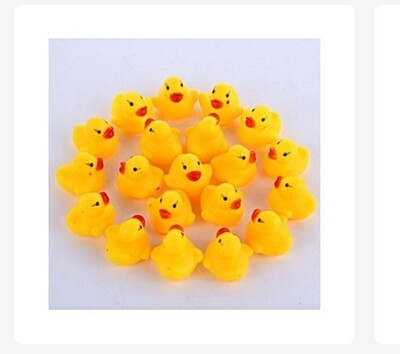 Kids Cute Cartoon Duck Baby Squeaky Rubber Ducks for Bath Water and Swimming