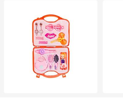 Kids Baby Girl Pretend Hair Glooming Set with Storage Case