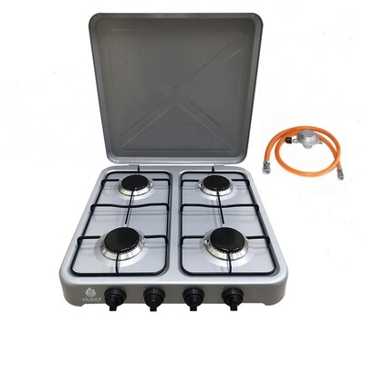 4 Gas Burner Table Top Cooker Silver