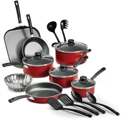 Red Nonstick cookware set