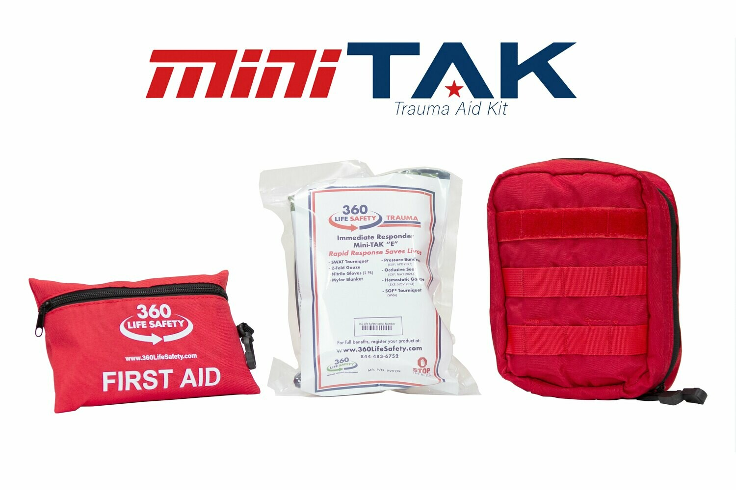 "mini-TAK ""E"" Kit with Molle Bag and First Aid Kit"