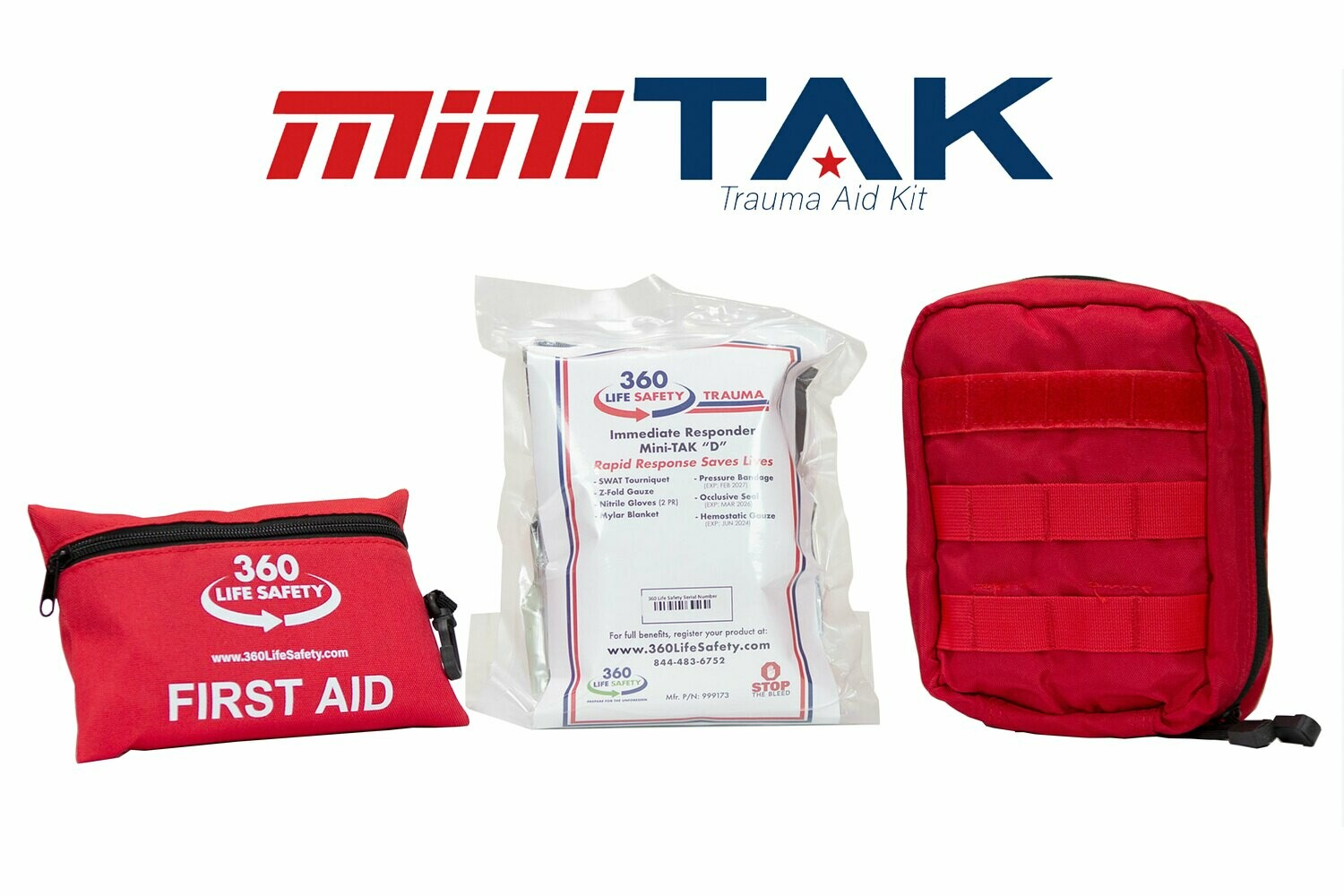 "mini-TAK ""D"" Kit with Molle Bag and First Aid Kit"