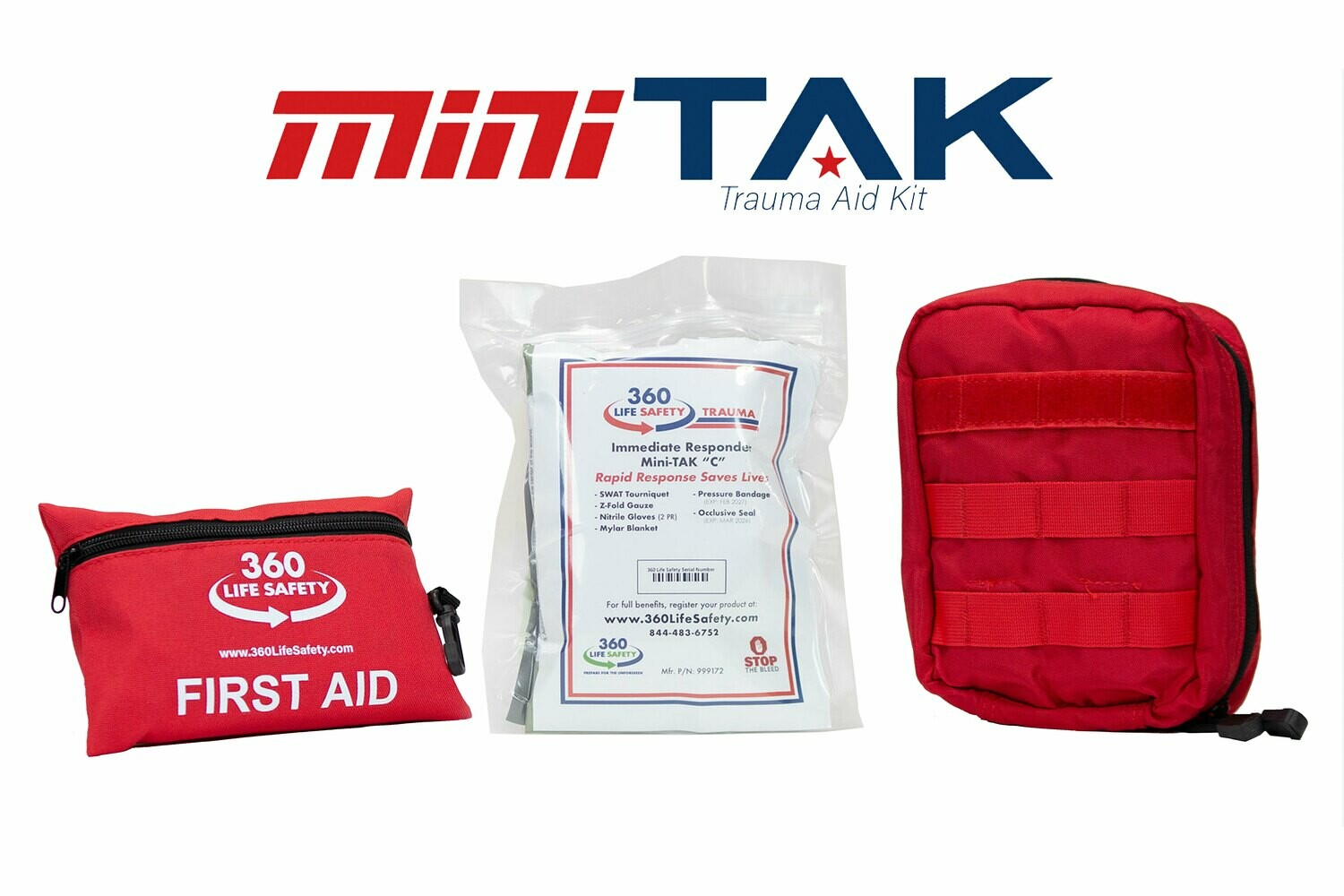 """mini-TAK """"C"""" Kit with Molle Bag and First Aid Kit"""