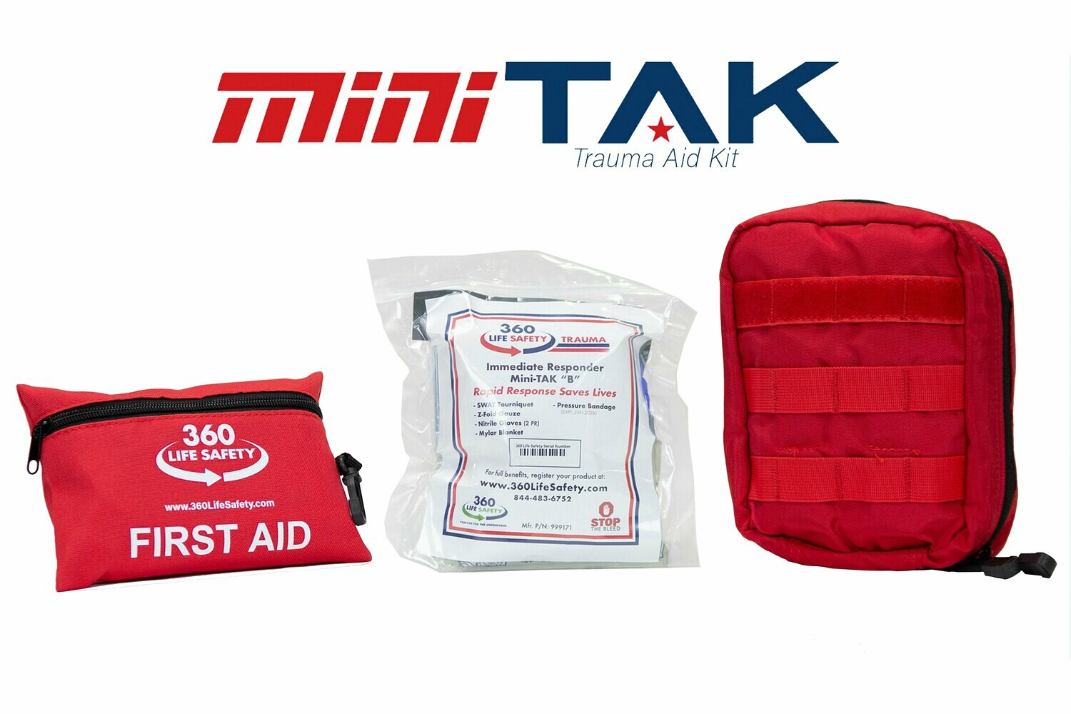 "mini-TAK ""B"" Kit with Molle Bag and First Aid Kit"