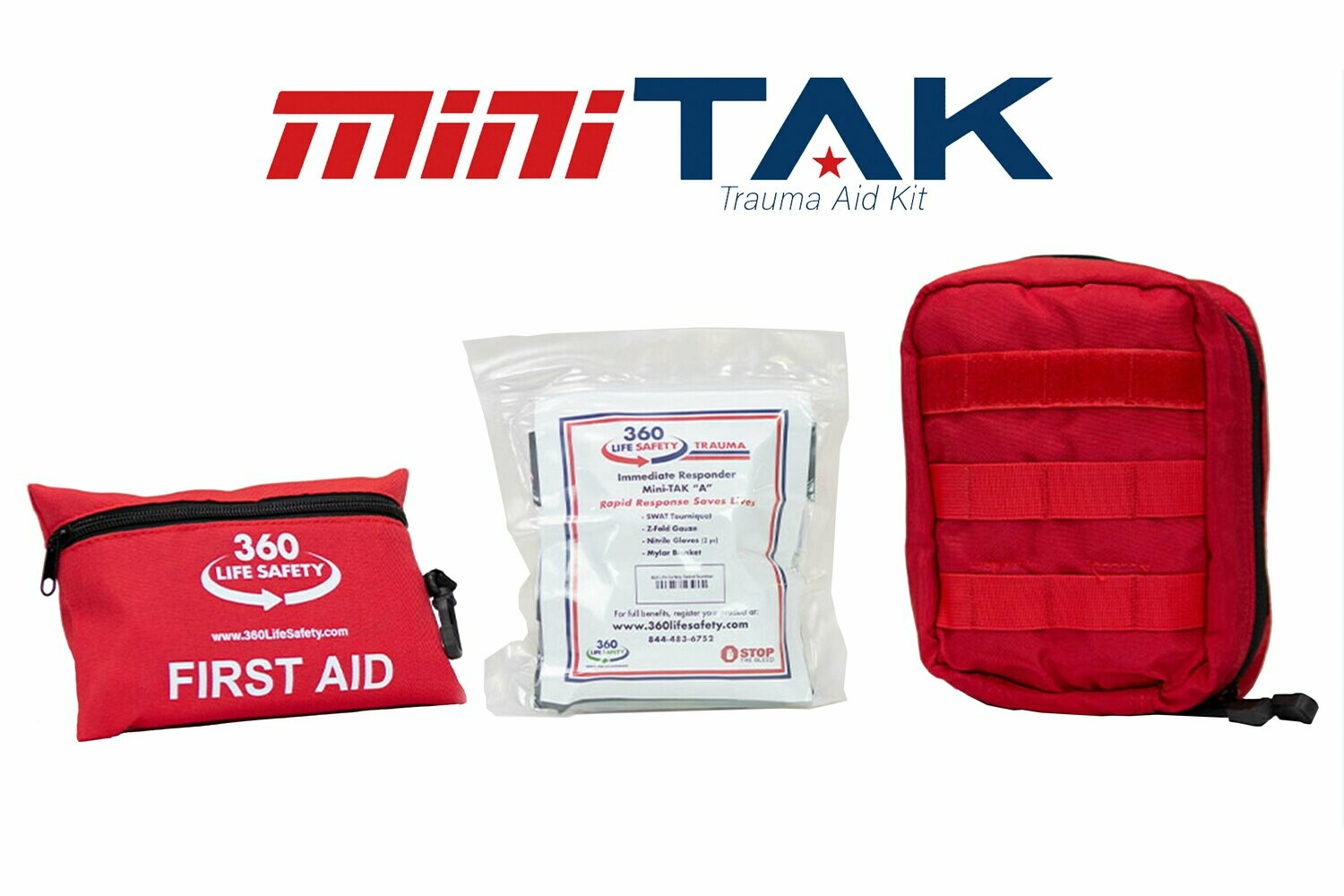"""mini-TAK """"A"""" Kit with Molle Bag and First Aid Kit"""