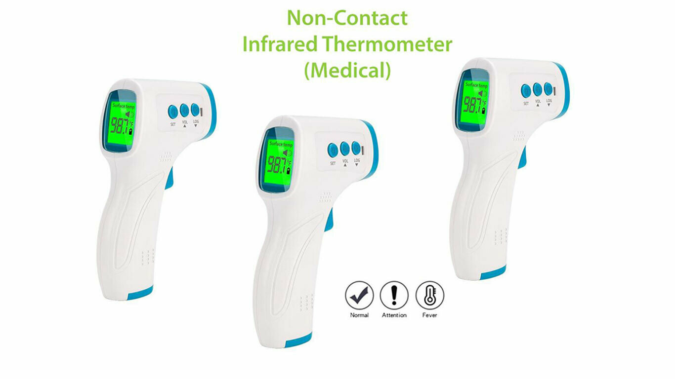 Non-Contact Thermometer, Medical (3 Pk.)