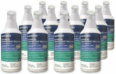 BIOESQUE Botanical Disinfectant Solution - Case of 32 oz. Bottles with Trigger Sprayer (case of 12)