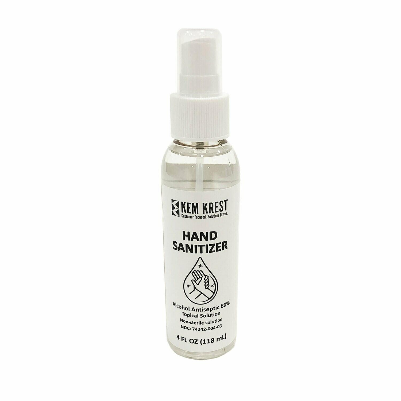 Hand Sanitizer - 4 oz. Spray Bottle (ea.)
