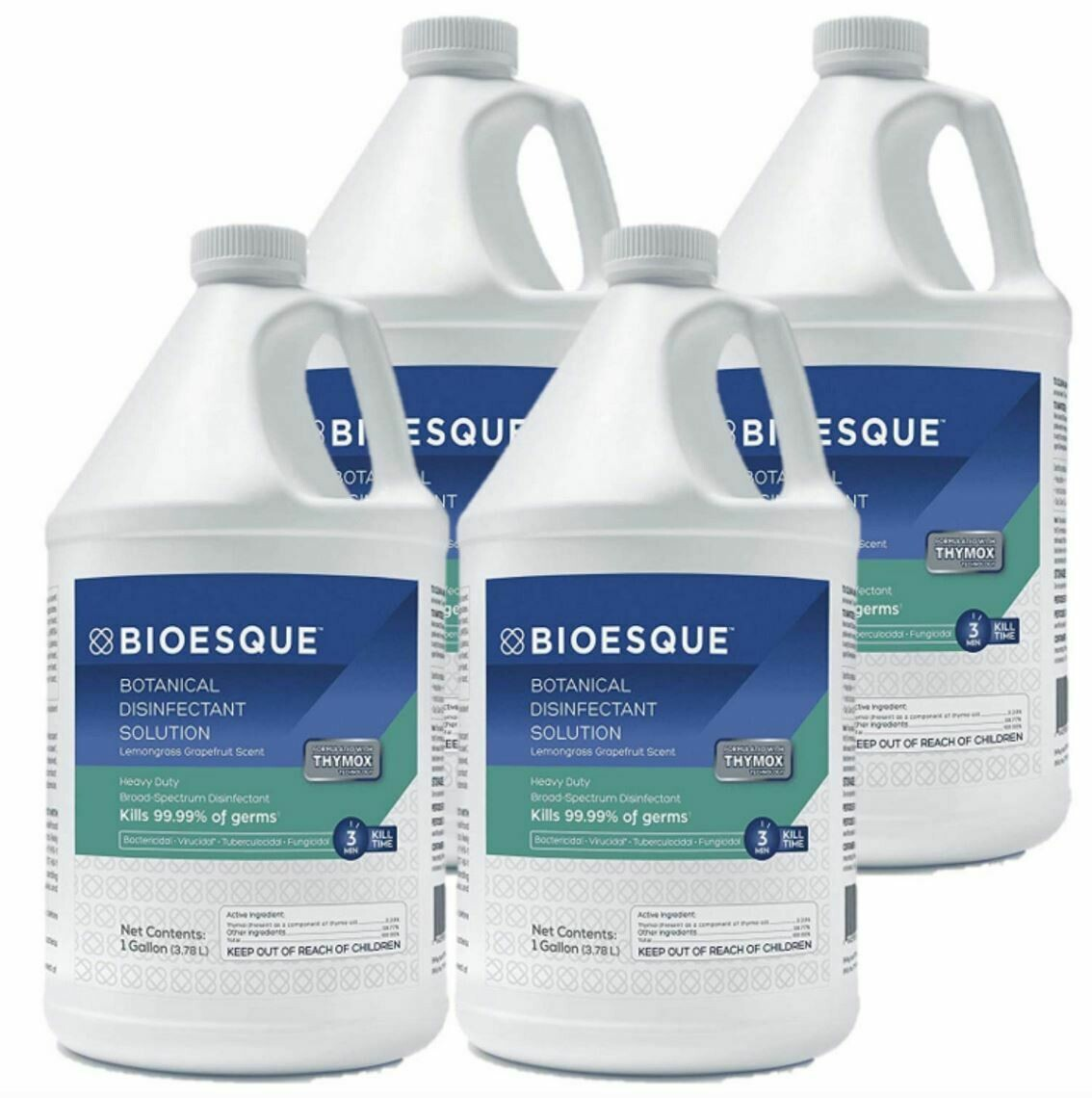 BIOESQUE Botanical Disinfectant Solution - Case of Gallon Containers (case of 4)
