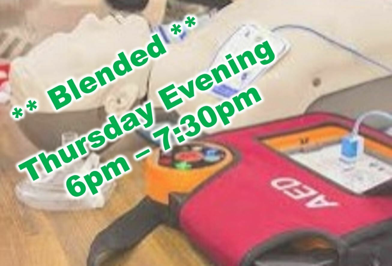 Mar. 24th, 2021 6:00pm-7:30pm (Wednesday) CPR Class