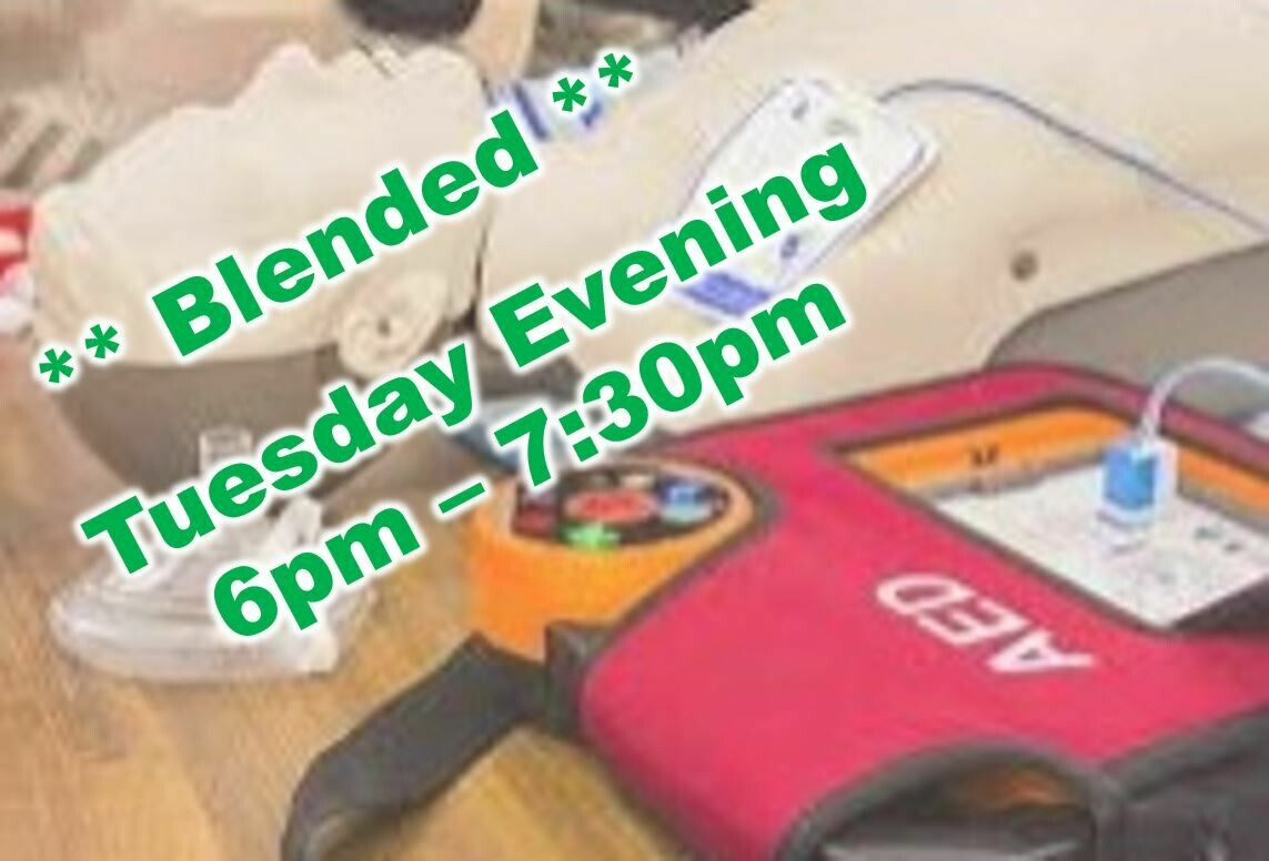 Jan. 19th, 2021 (Tuesday) 6:00pm-7:30pm CPR Class