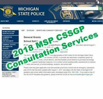 2018 MSP CSSGP Grant Consultation Services