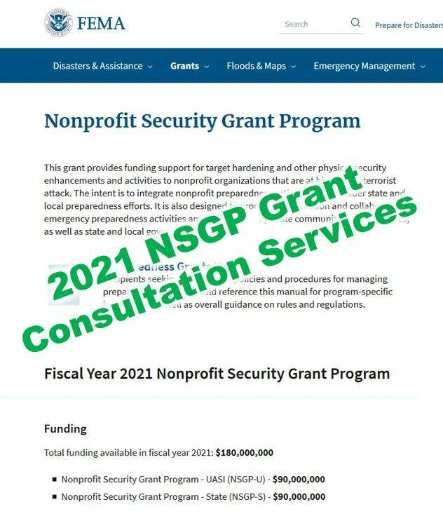 2021 NSGP Grant Consultation Services