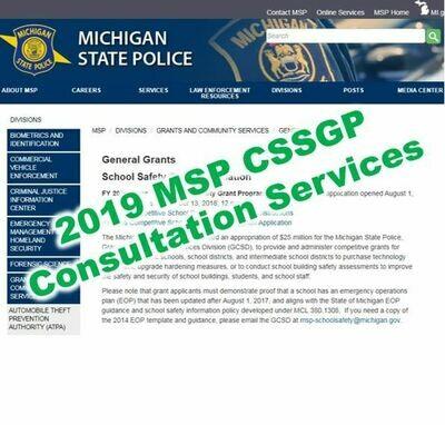 2019 MSP CSSGP Grant Consultation Services