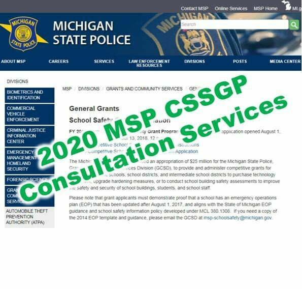 2020 MSP CSSGP Grant Consultation Services