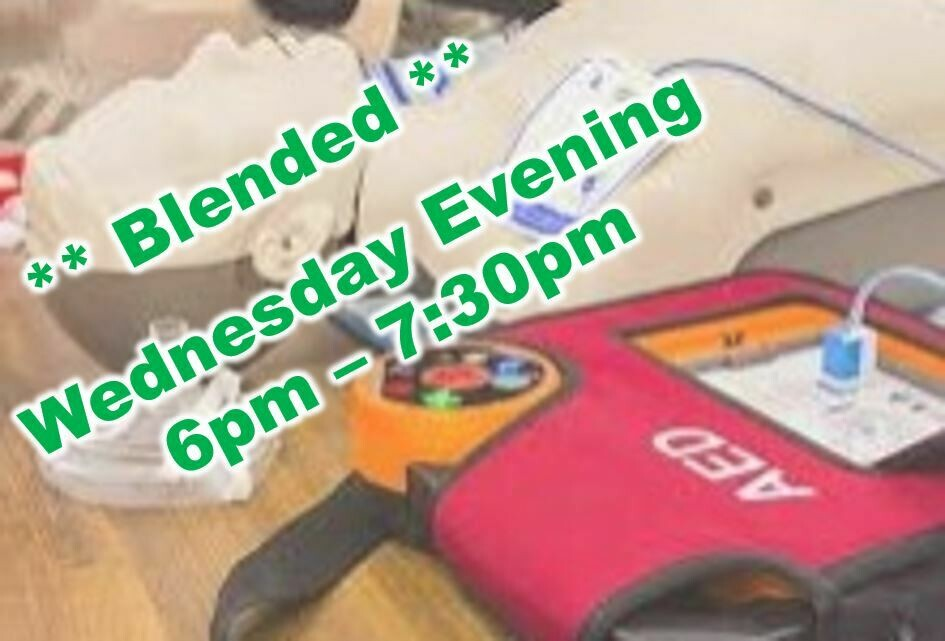 Mar. 24th, 2021 (Wednesday) 6:00pm-7:30pm CPR Class