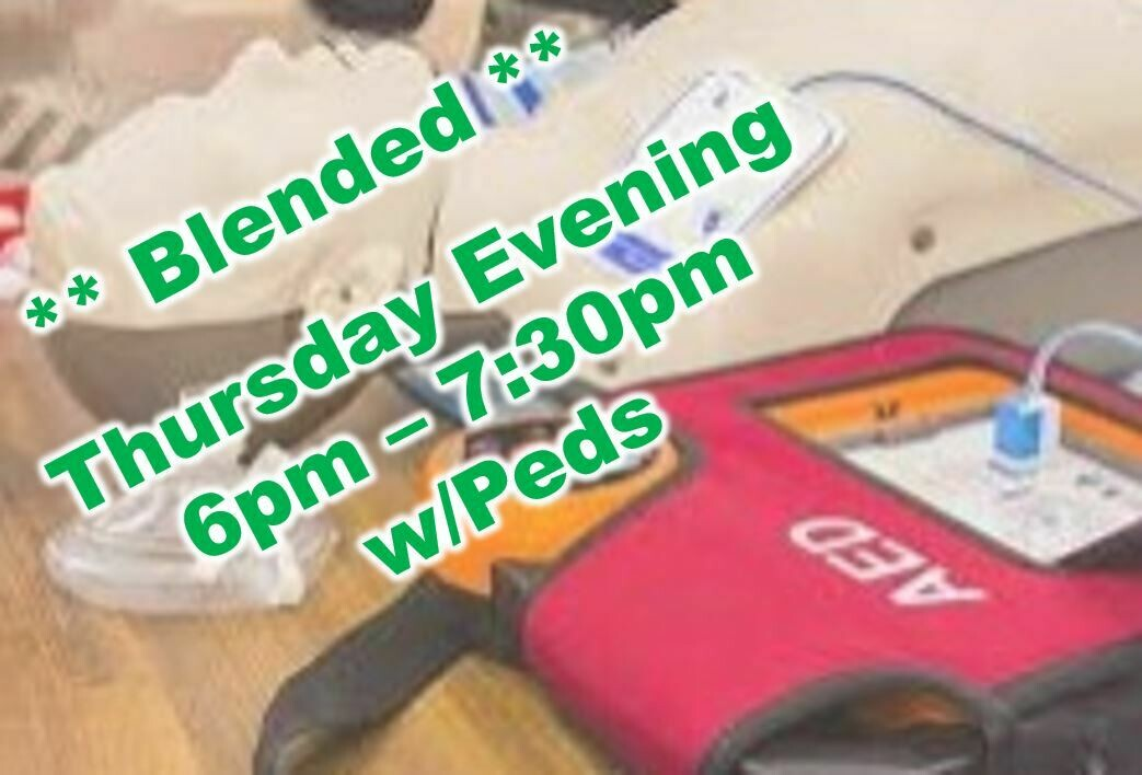 Mar. 25th, 2021 (Thursday) 6:00pm-7:30pm CPR Class
