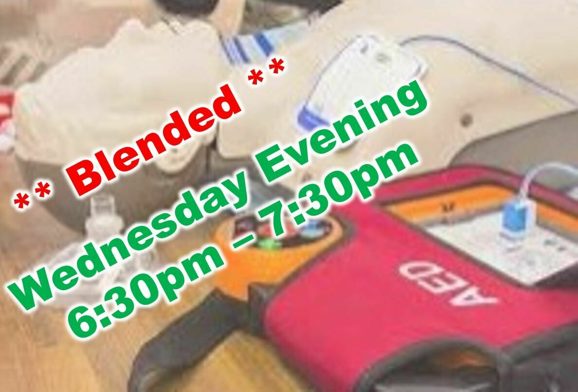 May 12th, 2021 (Wednesday) 6:30pm-7:30pm CPR Class