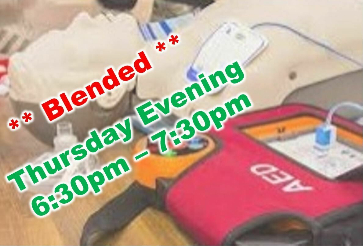 May 20th, 2021 (Thursday) 6:30pm-7:30pm CPR Class