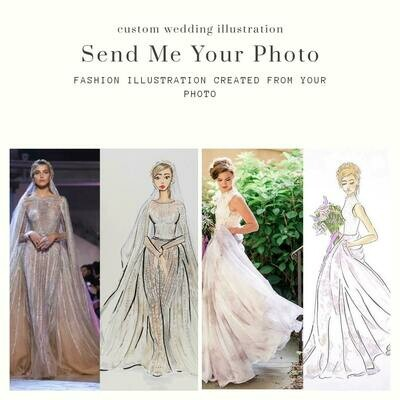 Custom Wedding Bridal Fashion Illustration