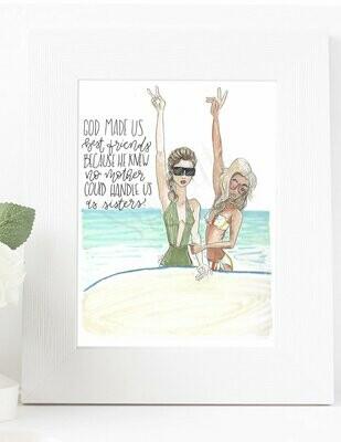 Customizable Best Friend Beach Print