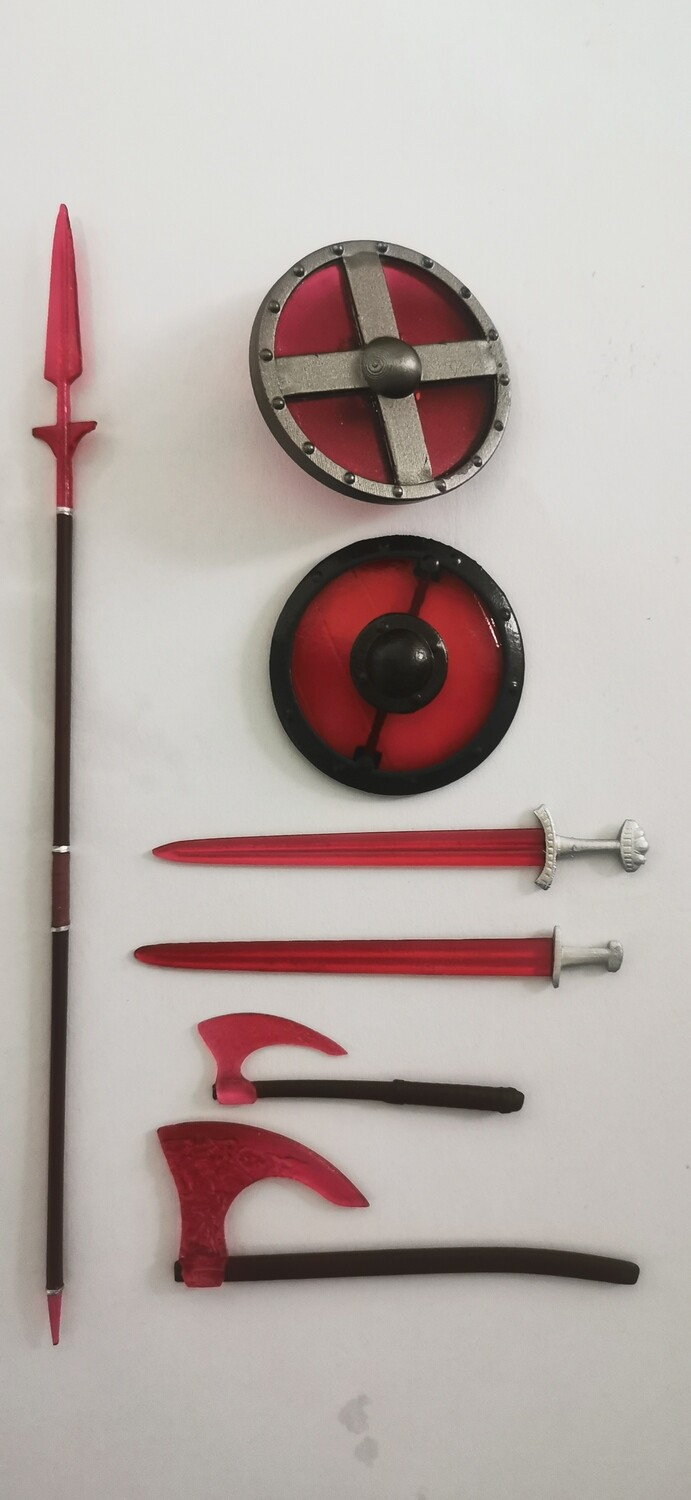 Viking vs Barbarian red energy weapons pack