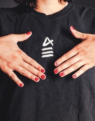 IKON Logo Tee / White on Black