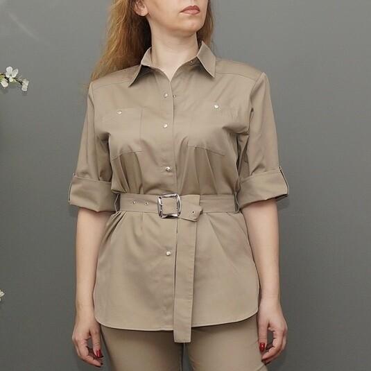 Рубашка с поясом на пряжке