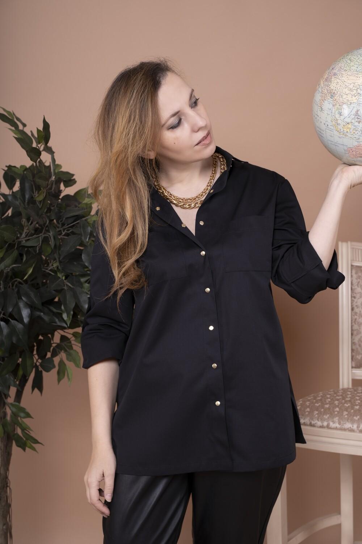 Блузка-рубашка из вискозы