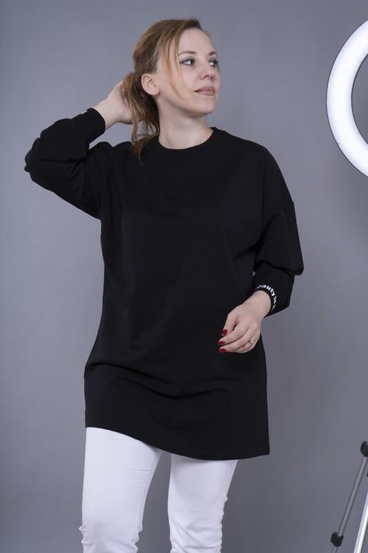 Свитшот с вышивкой на манжетах BEAUTYISART