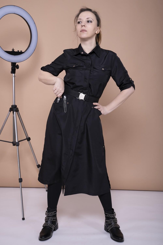Платье для парикмахера из ткани, устойчивой к красителям