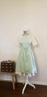 Dress Apron _ Cotton Mini Cherry Mint