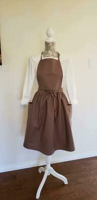 Dress Apron with Pocket _ CottonLinen