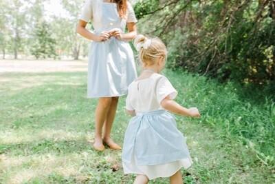 Kid Dress Apron _ Cotton Jelly Checkered