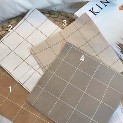 Doobarim Cotton Big Checkered 30s_beige