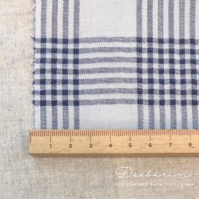 Doobarim Double Gauze Checkered _navy