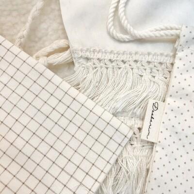 Doobarim Small Checkered cotton40s_ ivory/beige