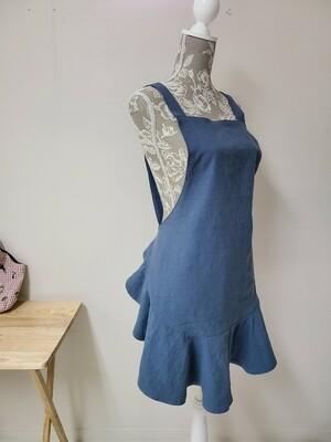 Short Mermaid Apron _indie blue_ Shoulder Strap