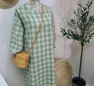 Doobarim Cotton Retro Checkered 40s _ Green