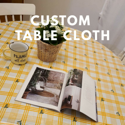 Table Cloth Waterproof_ 4 Persons Round Table