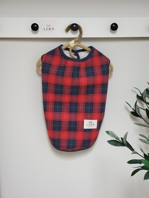 Checkered Fleece Vest